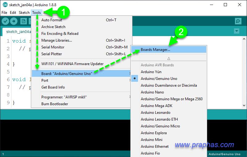 การเรียนรู้ครั้งที่ 1 [Basic ESP32] เตรียมโปรแกรม Arduino IDE